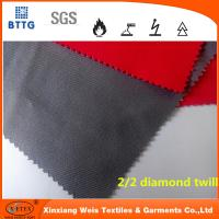 Wholesale In stock YSETEX EN11612 certificated 360gsm flame retardant fabric in grey and red from china suppliers