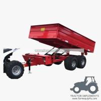 Wholesale 3TR4WM - 4wheels small tractor trailer dump trailer with moto 3Ton from china suppliers