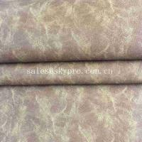 Wholesale 0.8mm Soft Crazy Horse Leather Perspiration Absorption No Crease PU PVC Faux Leather from china suppliers