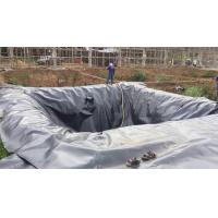 Buy cheap 7M width1-8 Meter black color 30mil HDPE fish pond liners/HDPE Impermeable Geomembrane by sincere factory from wholesalers