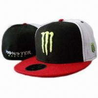 China Black and White 100% Cotton Promotional Baseball Snapback Hat, Hip Hop Hat/Cap on sale