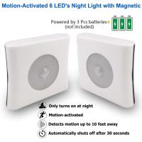Wholesale ABS Motion Sensor Night Lamp / Hotels Battery Powered Motion Night Light from china suppliers