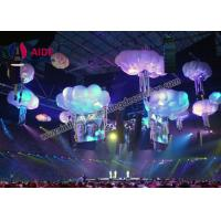 Wholesale White Cloud Shapes Inflatable Stage Decoration , Indoor Ceiling Blow Up Light from china suppliers