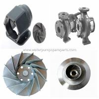 Buy cheap cast iron casting water pump spare parts ISO9001 / BV with polishing, sand blasting from wholesalers