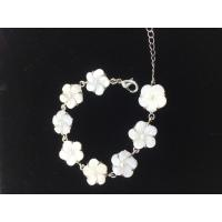 Wholesale Charms Natural Shell Jewelry , Customized Logo Mother Of Pearl Flower Bracelet from china suppliers
