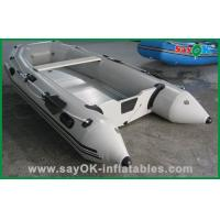 Wholesale Custom PVC Inflatable Boats White Deep-V Fiberglass Boat 3.6mLx1.5mW from china suppliers