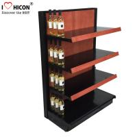Wholesale Liquor Store Gondola Shelving Units 36 Inch Wide End Cap Wooden Shelving Display Stand from china suppliers