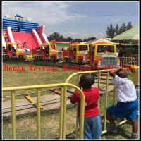Buy cheap new desighed 4 cabins 16 seats  big truck shape amusement outdoor equipment kids electric train from wholesalers