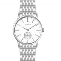 Wholesale Quartz Man fashion silver stainless steel watch, men's luxury watches from china suppliers