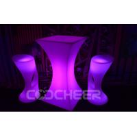 Wholesale Glow Mutil Color Illuminated outdoor furniture Led Bar Table For Nightclubs from china suppliers