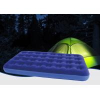 Outdoor Camping Equipment Double Flocked Airbed , Twin Bed Air Mattress