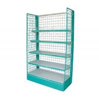 Quality Grinding Back Panel Grocery Store Shelving , 120kg / Layer Showroom Display Racks for sale