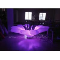 Wholesale 1.5m LED Flower Inflatable Lighting Balloon With Base Blower Oxford Cloth from china suppliers