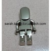 Wholesale Cute Metal Robot USB Pen Drives, Gift USB Drives with Laser Printing Logo in Gold/Silver from china suppliers