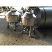 Quality 250L Totes Powder Stainless Steel Transfer Tank With Four Wheels With Pushing Hand for sale