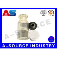 Buy cheap Steroid Small Glass Vials  With Caps  Little Glass Bottles With Corks For Liquid from wholesalers
