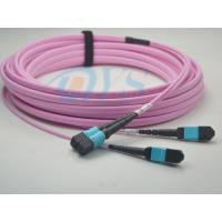 Quality MTP/APC - LC 24core 9/125 Optical Fiber Patch Cord , Equipment with MPO/MTP interface for sale