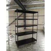 Wholesale Slotted Angle Steel Light Duty Shelving Black / Grey / White in Storage Systems from china suppliers