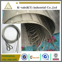 Wholesale 304 Hand-woven Stainless Steel Wire Rope Mesh for stair frames from china suppliers