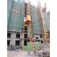 Wholesale 24m-200m Twin Cage Construction Building Material Hoist, Vertical Cargo Hoist 23.5m/min from china suppliers