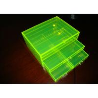 Wholesale Fluorescence Green Acrylic Jewelry Display Case Non-Toxicity With Drawers from china suppliers