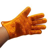 Wholesale Orange Color Eco-friendly Five Fingers Silicone Oven Mitt Glove from china suppliers