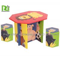 Wholesale Custom Foldable Corrugated Cardboard Furniture Mushroom Table and Stool for Kids from china suppliers