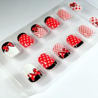 Wholesale Mickey Fake Finger Nail Art Bowknot / Polka Dots Nail Cover ABS Plastic from china suppliers