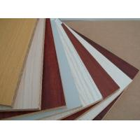 Wholesale Customized melamine mdf sheets / fiberboard with orange , white , wooden grain color from china suppliers