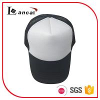 Quality 100% polyester white and black 6 panel baseball cap for adult for sale