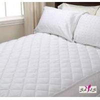 Wholesale Queen Size Zippered Quilted White Microfiber Hotel Mattress Cover from china suppliers