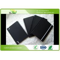 Wholesale Custom Ruled Black Cardboard Hardcover Spiral Notebook for School / Office from china suppliers
