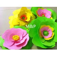 Buy cheap Orange pink grass green white 1mm 10cm x10 cm origami roses Sponge Eva plastic DIY manual paper paper kindergarten from wholesalers