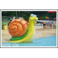 Wholesale Snail Aqua Play Spray Water Park Equipments 1600mm*750mm For Kids Play from china suppliers
