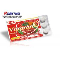 Wholesale Functional Chewable Vitamin C Candy Tablets , Sugar Free Confectionery Strawberry Sweets from china suppliers