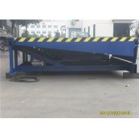 Wholesale Stationary Hydraulic Loading Dock Equipment , Blue Warehouse Dock Levelers from china suppliers
