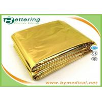 Wholesale High Quality Waterproof Outdoor Emergency Survival Foil Thermal First Aid Rescue Blanket 160x210cm Golden/Silver colour from china suppliers
