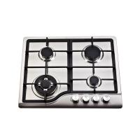 Wholesale Sliver 4 Burner Gas Hob Stainless Steel , 4 Burner Gas Stove Top Home Appliances from china suppliers