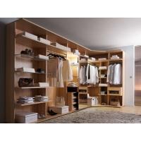 Wholesale Modern style veneer door designs L-shaped wood clothes closet from china suppliers