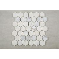 "Wholesale Carrara white hexagon  mosaic tile 3"" from china suppliers"