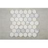 Buy cheap Carrara white hexagon  mosaic tile 3