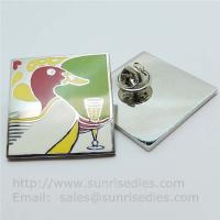 Wholesale Cloisonne pin badge with butterfly clutch, copper Cloisonne lapel pin factory China from china suppliers