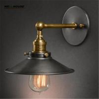 Wholesale American vintage wall lamp indoor lighting bedside lamps wall lights for home diameter 22cm 110V/220V E27 from china suppliers