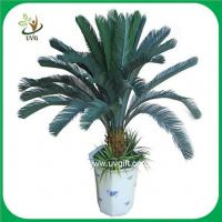 Wholesale UVG PLT07 bonsai fake plants with plastic cycas revoluta tree for office decoration from china suppliers