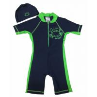 Wholesale BONZ Boys Short Sleeve Blue UV One Piece Zippered Swimsuit from china suppliers