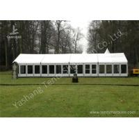 Wholesale White Fabric Top Outdoor Event Tent , Aluminum Profile Hard Glass Wall Tent from china suppliers