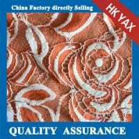 Wholesale YAX China supplier wholesale YX1616 Chinashow White and Orange Emproidery Cotton Organza Sequence Lace Fabric from china suppliers