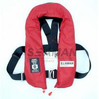 Wholesale EC / MED Approval 150N Orange Red Double Air Chamber Inflatable Life Jacket With Harness from china suppliers