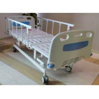 "Wholesale ABS head and foot board 5"" castors 4 cranks hospital medical bed with aluminum side rails from china suppliers"