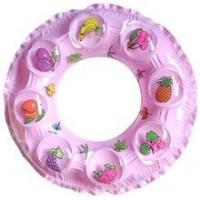 Wholesale Fruit / fish pringting pvc bubble inflatable swim rings , inflatable swimming tubes from china suppliers